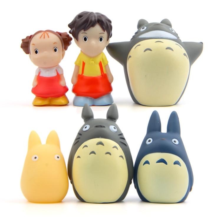 2017 TOTORO mini Ghibli Linda película Anime acción figura plástico PVC modelo coche decoración muñecas navidad regalo conjunto de juguetes para niños