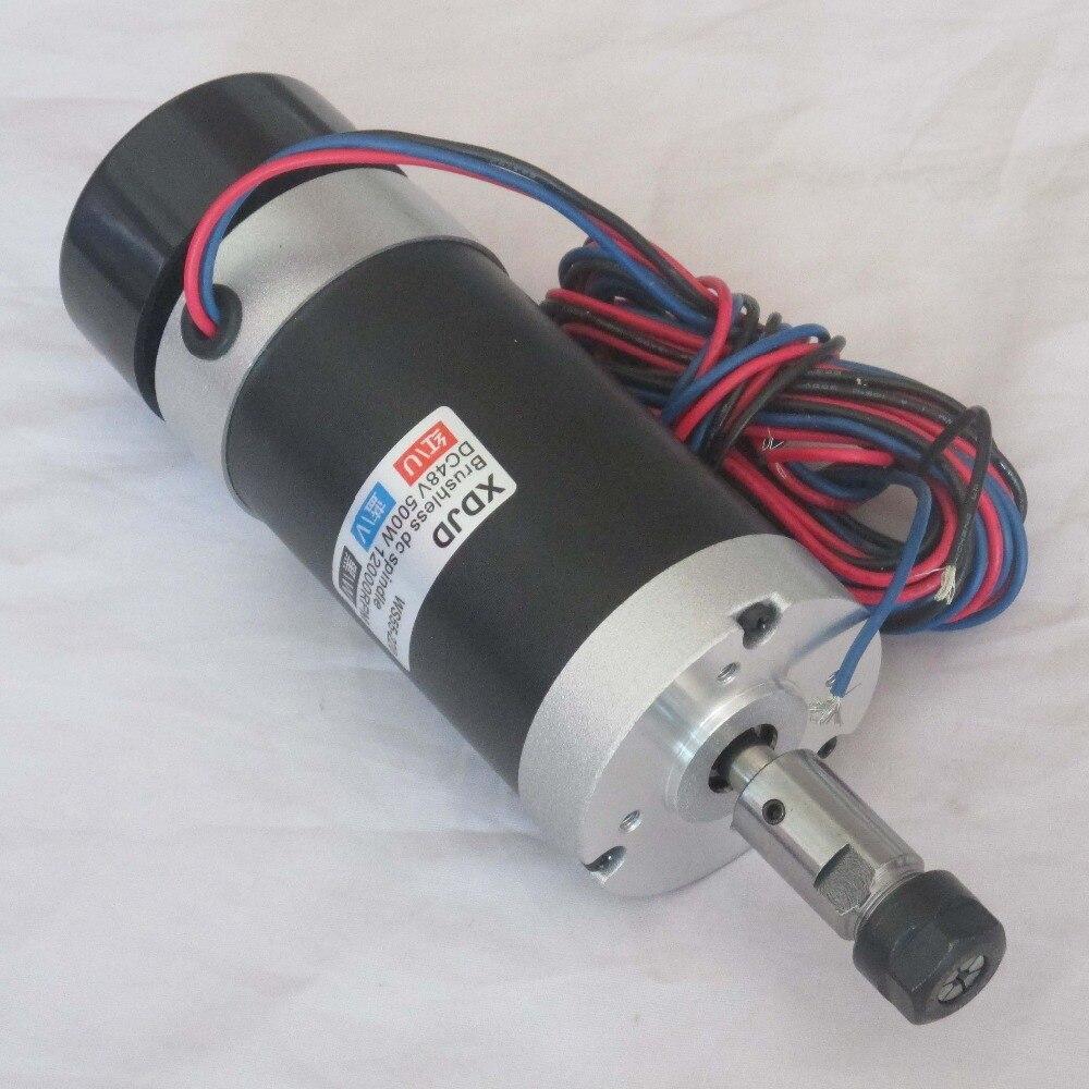 آلة النقش بمحرك المغزل بدون فرش ER11 48V500W ، سرعة عالية ، تبريد الهواء ، عمر طويل