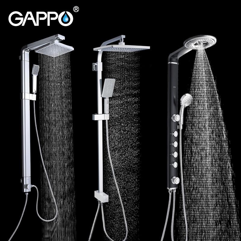 GAPPO-نظام دش الحمام ، صنبور دش الحمام ، مجموعة خلاط رأس دش المطر ، صنبور حوض الاستحمام ، خلاط صنبور المياه