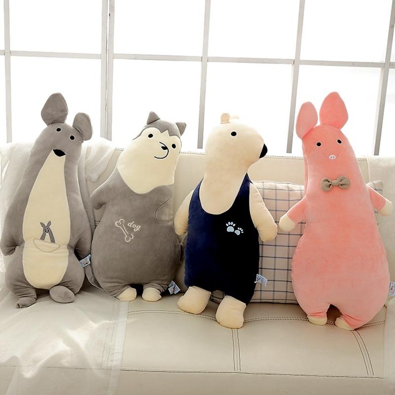 Hot Soft Plush Toys Cute Stuffed pig bear elephant kangaroo animal doll Kids Appease Sleeping Pillow Home Decor Christmas Gift