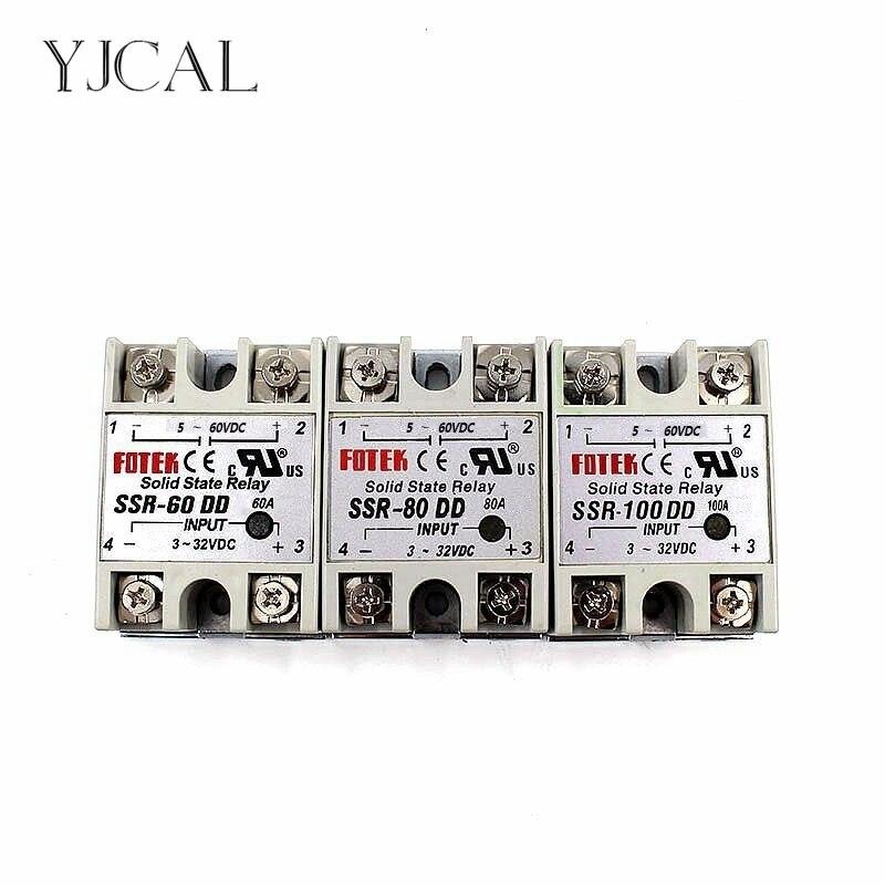 YJCAL твердотельные реле SSR-60DD SSR-80DD 60A 80A 100A AC Контроль DC реле 3-32VDC до 5-60VDC SSR 60AA 80AA 100AA