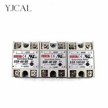 YJCAL Relais Statique SSR-60DD SSR-80DD SSR-100DD 60A 80A 100A Contrôle AC DC Relais 3-32VDC À 5-60VDC SSR 60AA 80AA 100AA