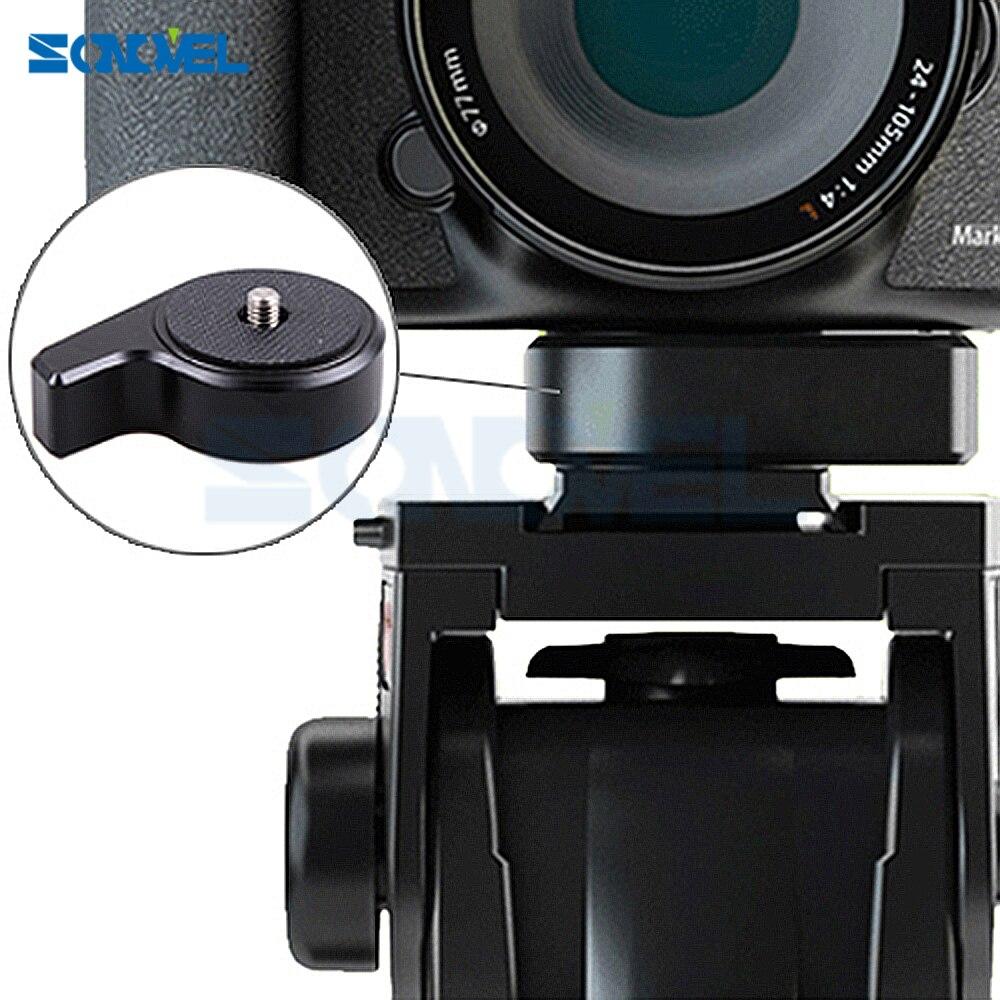 """Sonovel liberación rápida una placa base de la cámara con tornillo de 1/4 """"-3/8"""" cambio de velocidad superior para la cabeza del trípode DSLR estabilizador Slider Jib"""