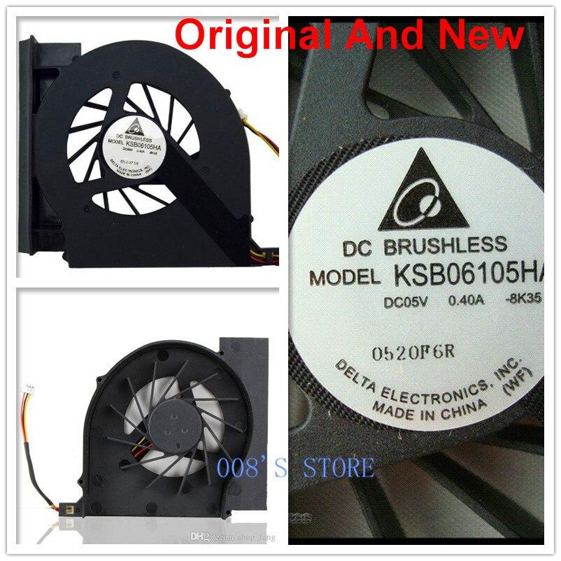 Nueva computadora portátil CPU ventilador radiador refrigerador para HP Compaq G61 G61-100 G71 CQ61 CQ61-100 CQ70 CQ71 CQ71-100 KSB06105HA-8K35 5V 0.40A