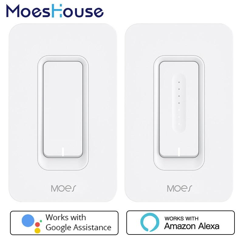 Умный настенный выключатель света US WiFi, диммер, мобильное приложение, дистанционное управление, не требуется концентратор, работает с Amazon ...