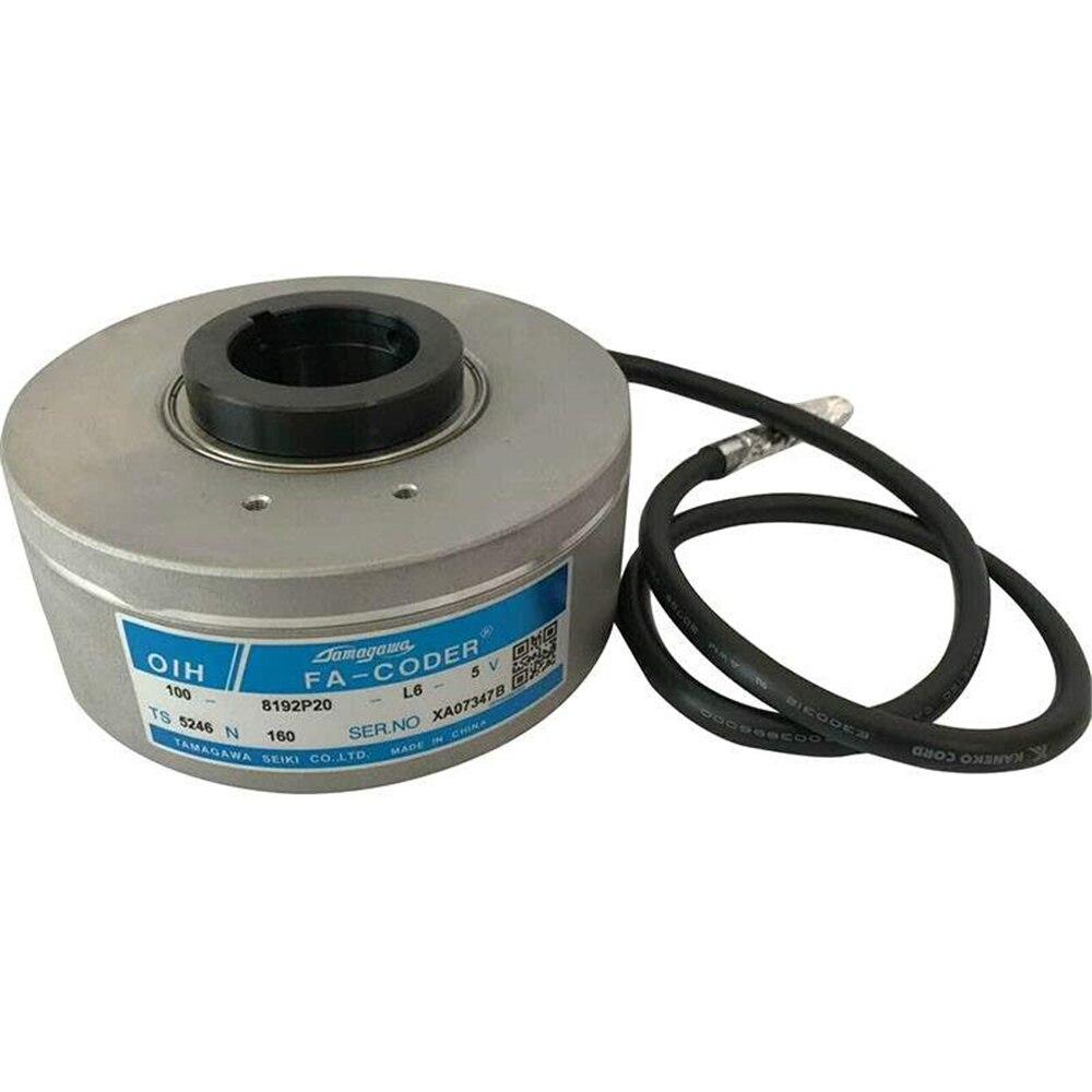 Original Parte Elevador Tamagawa Codificador Rotativo Ts5246n160 110 Oih100-8192p20-l6-5v Óptico Incremental