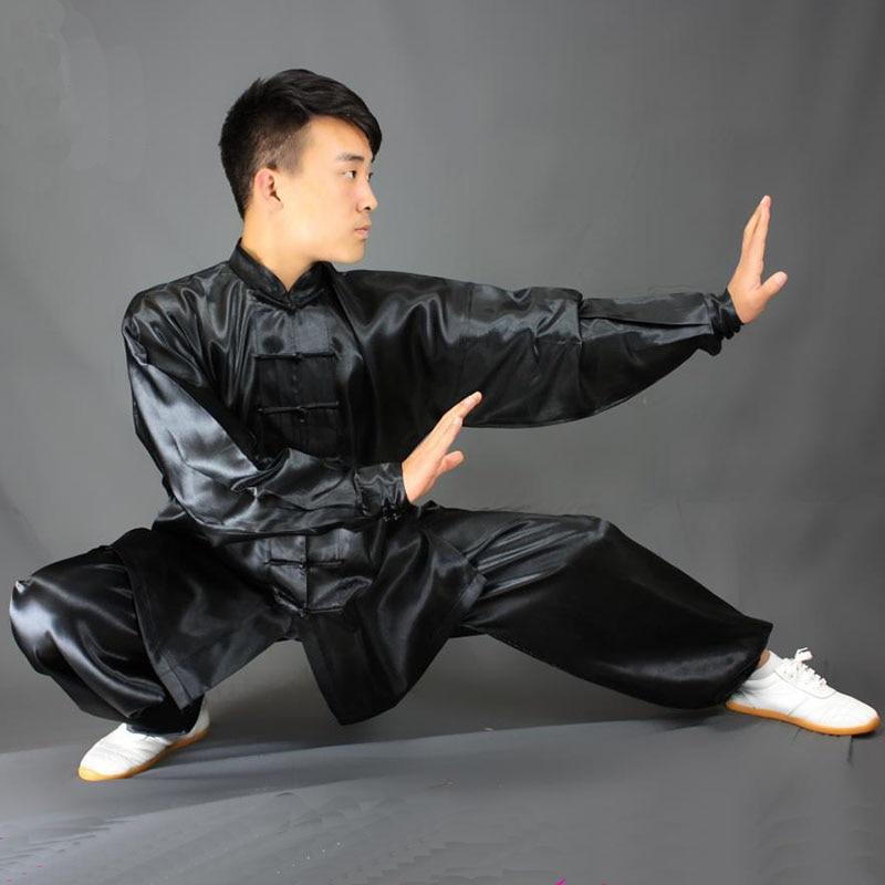 Ушин HX11 белый черный желтый тайчи одежда для выступлений с длинным рукавом кунг фу Униформа ушу тайчи униформа для детей мужчин женщин| | | АлиЭкспресс