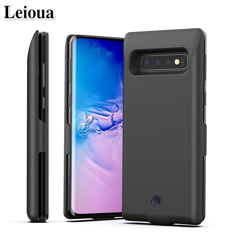 Leioua für Samsung Galaxy S10 Tragbare Ladegerät 7000 mAh Nachladbare Ausgedehnte Batterie Fall Pack Schutzhülle Backup S10 Plus S10E