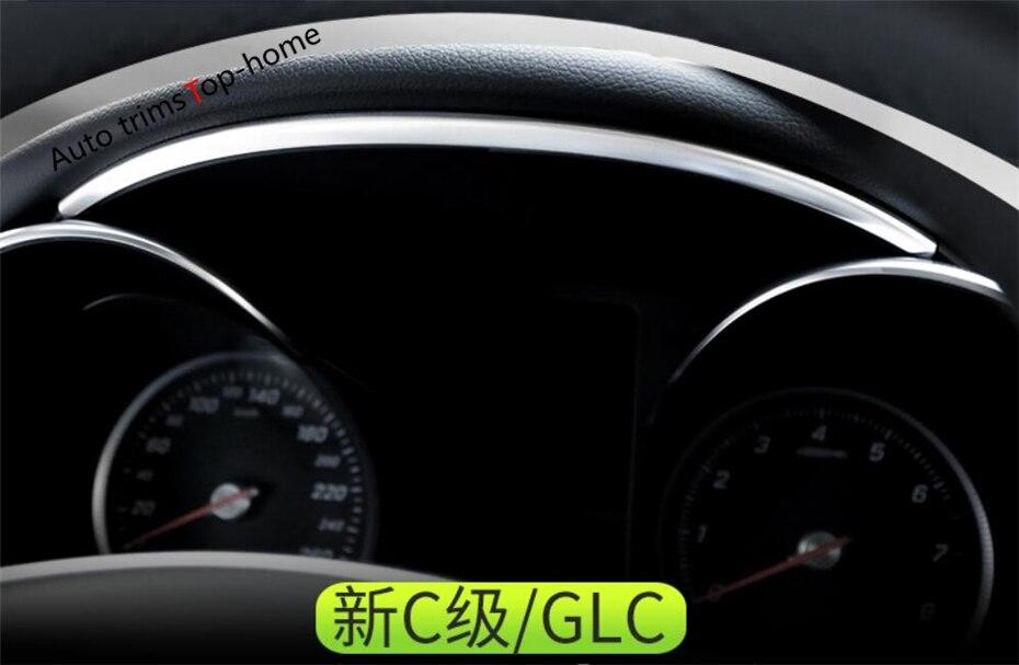 Yimaautotrims Interior For Mercedes Benz C CLASS W205 C200 / GLC X253 GLC 300 2015 - 2020 Dashboard Instrument Strip Cover Trim