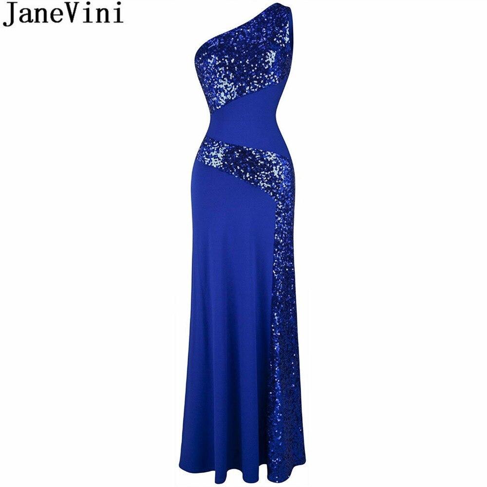 JaneVini un hombro sirena largo Madre de la novia vestidos de talla...