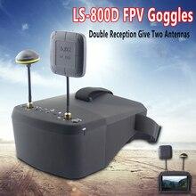 LS-800D FPV Brille mit DVR 5,8G 40CH 4,3 Zoll 5 Zoll 854*480 Video Headset HD 2000mAh batterie Für RC Modell