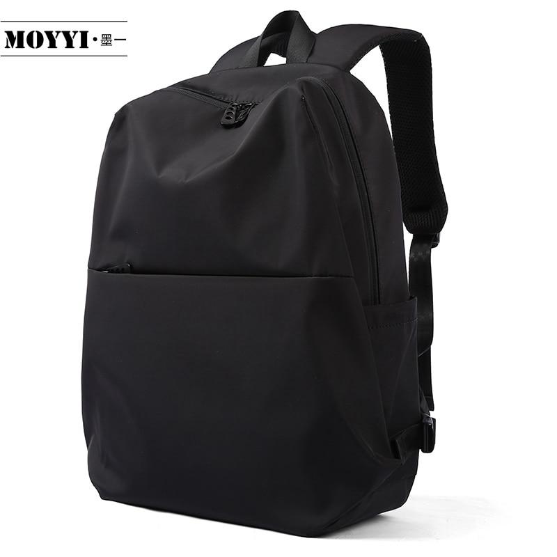 MOYYI حقيبة ظهر نمط بسيط سعة كبيرة حقيبة ظهر رجل تسلق الجبال الذكور حقيبة كتف الكمبيوتر وظيفية متعددة الاستخدامات