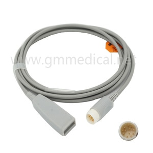 Compatible With Philips Medical OEM  M1669A  3-Lead ECG Trunk Cable Round 12PIN AAMI & IEC Label Included.