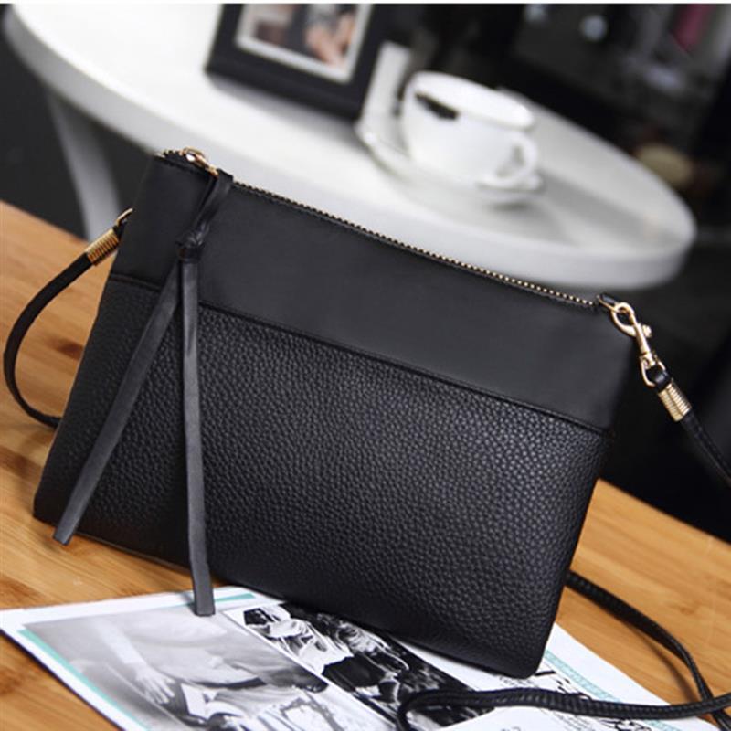 Simple Women's Mini Crossbody Bags Casual PU Leather Clutch Bag For Lady Girls Messenger Bag Cheap Female Black Clutchs