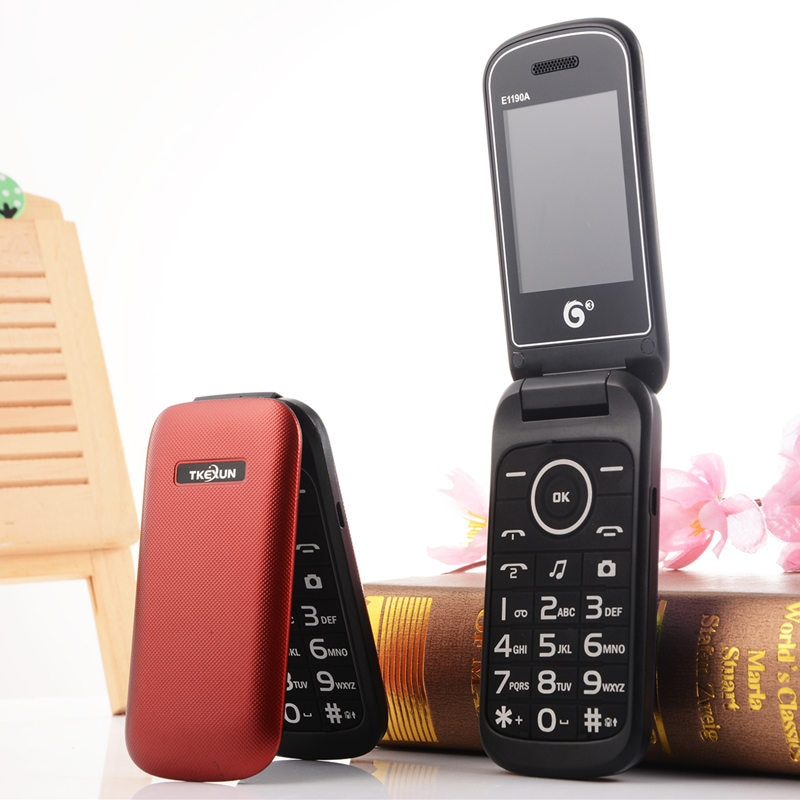 Оригинальный Раскладной русская клавиатура, недорогой старший MP3 радио E1190A мобильный телефон gsm кнопочный сотовый телефон, испанский, русск...