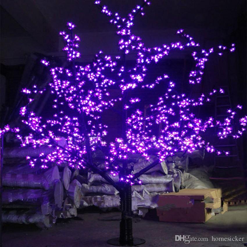Led artificial flor de cerejeira árvore luz natal 1536 pces lâmpadas led 2 m/6.5ft altura à prova chuva uso ao ar livre frete grátis