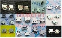 120 stücke 10 stücke jeweils für 12 art Micro USB 5Pin jack schwanz buchse micro-usb-anschluss port sockect verlinkt für samsung Lenovo Huawei ZTE HTC
