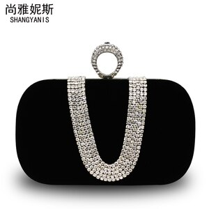 2015 New Arrival Top Minaudiere Velour Women Leather Handbags Women's Handbag Banquet Bag Evening Messenger Day Clutch Box Chain