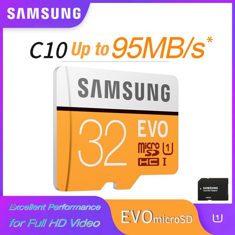 SAMSUNG EVO Micro SD 128GB 64GB U3 Memory Card 32GB U1 Flash Card SD/TF MicroSDHC/MicroSDXC for SmartPhone