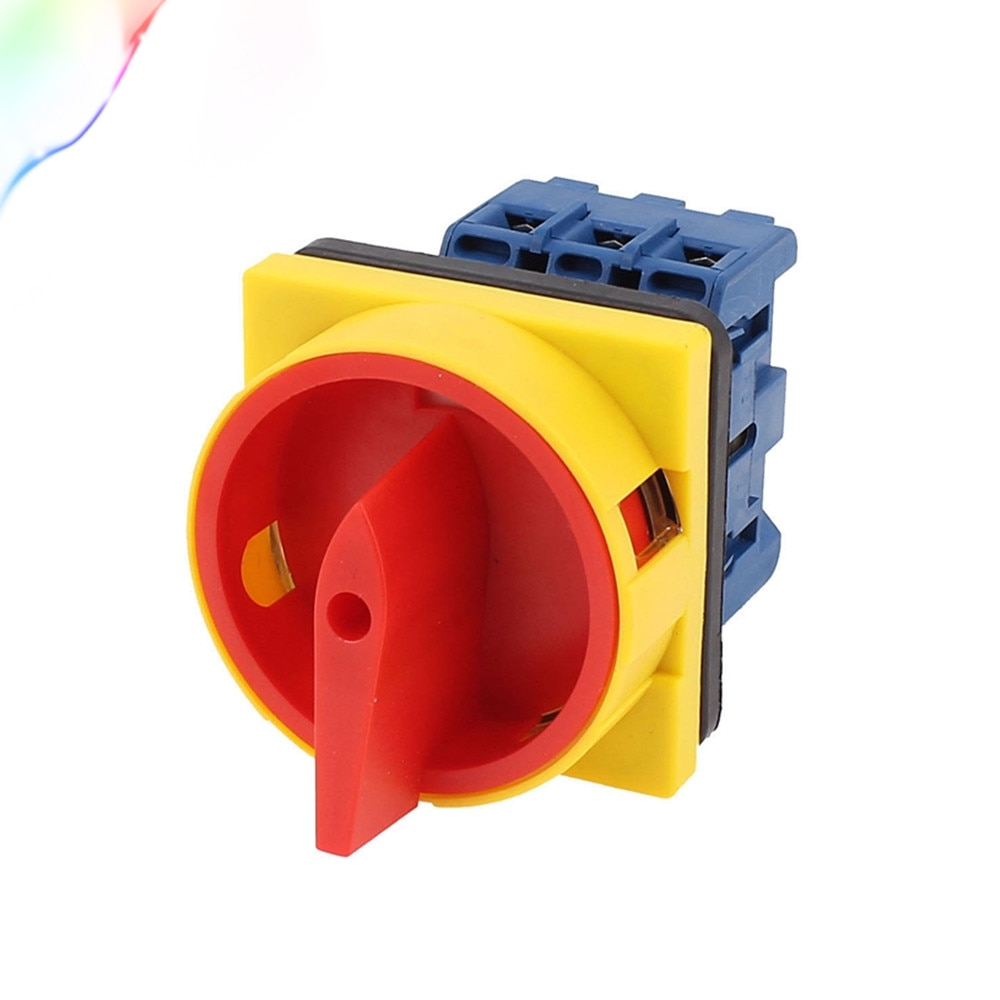AC 600V 25A interruptor de encendido/apagado, 2 posiciones, 3 fases, interruptor de cambio de cámara giratoria