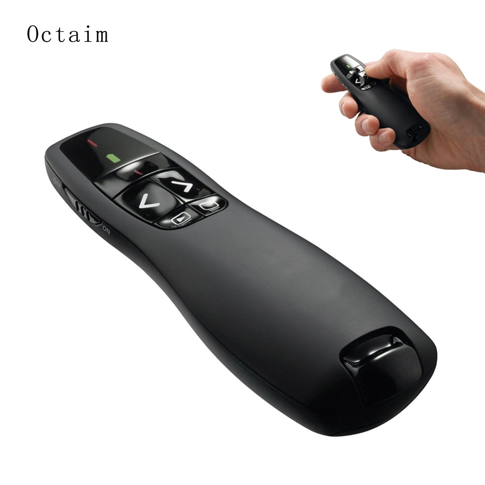 Беспроводная лазерная указка R400 2,4 ГГц с ручная указка для презентаций PowerPoint