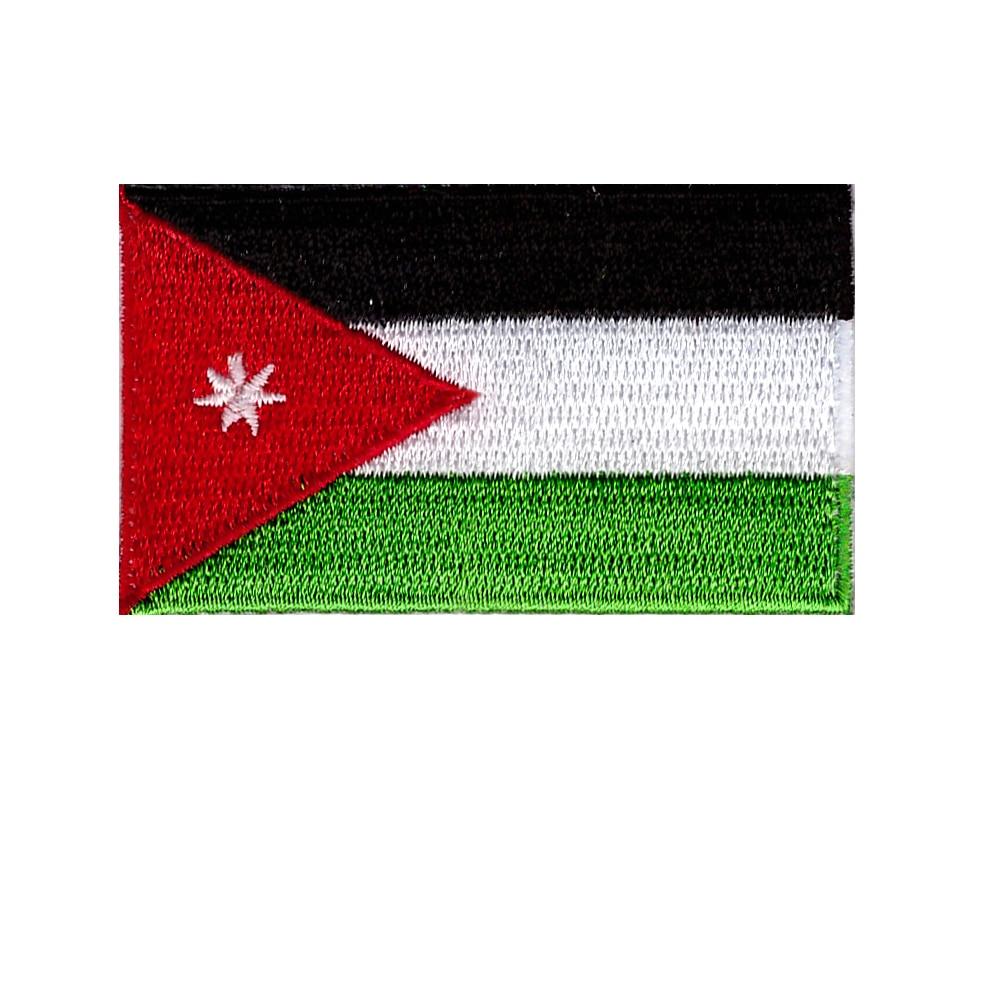 Новая продукция, Jordanian Hashemite флаг королевства, вышитая Лоскутная эмблема на ткани, штаны или сумка, наклейка, декоративный коллаж