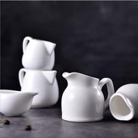 1 pc קרמיקה לבן sharp פה אספרסו כוס זכוכית קפה כוס חלב כוס אין ידית מעובה קרמיקה עבור ריסטה