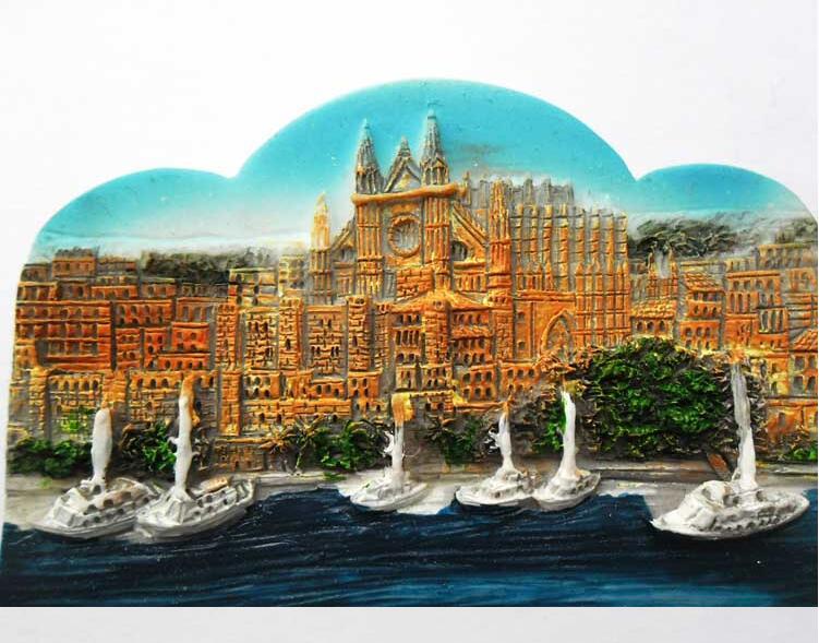 Pegatinas magnéticas para turismo en España, características de regalo de viaje