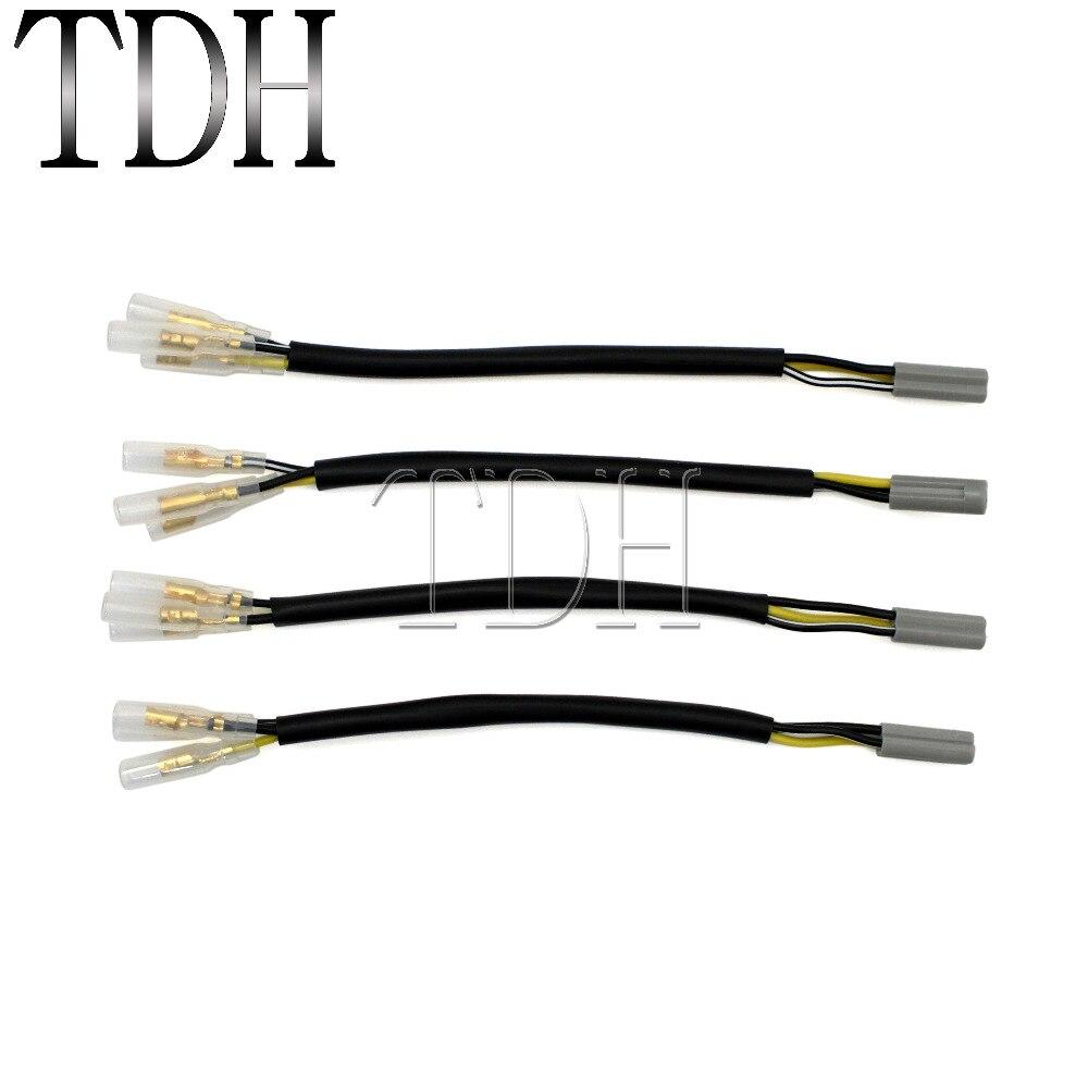 Las señales de giro enchufe de cable adaptadores de conectores para YAMAHA YZF-R6 R6S R1 FZ6