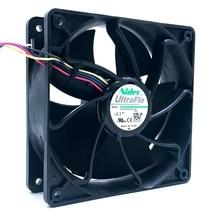 12 V 1.85A nidec V12E12BS1B5-07 12038 120*120*38mm quatre fils ventilateur de contrôle de température pour BTC BCH SBTC UBTC mineur ventilateur S7 S9 + ventilateur