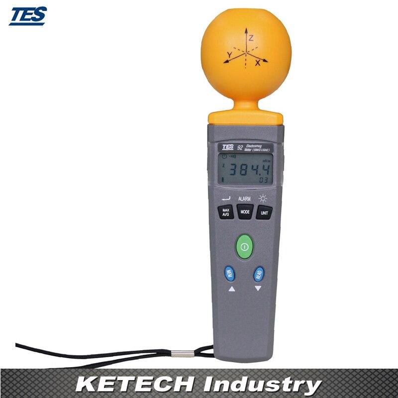 Medidor de radiación Digital EMF ElectroSmog 3 ejes isotrópico EMF 50MHz a 3,5 GHz TES92