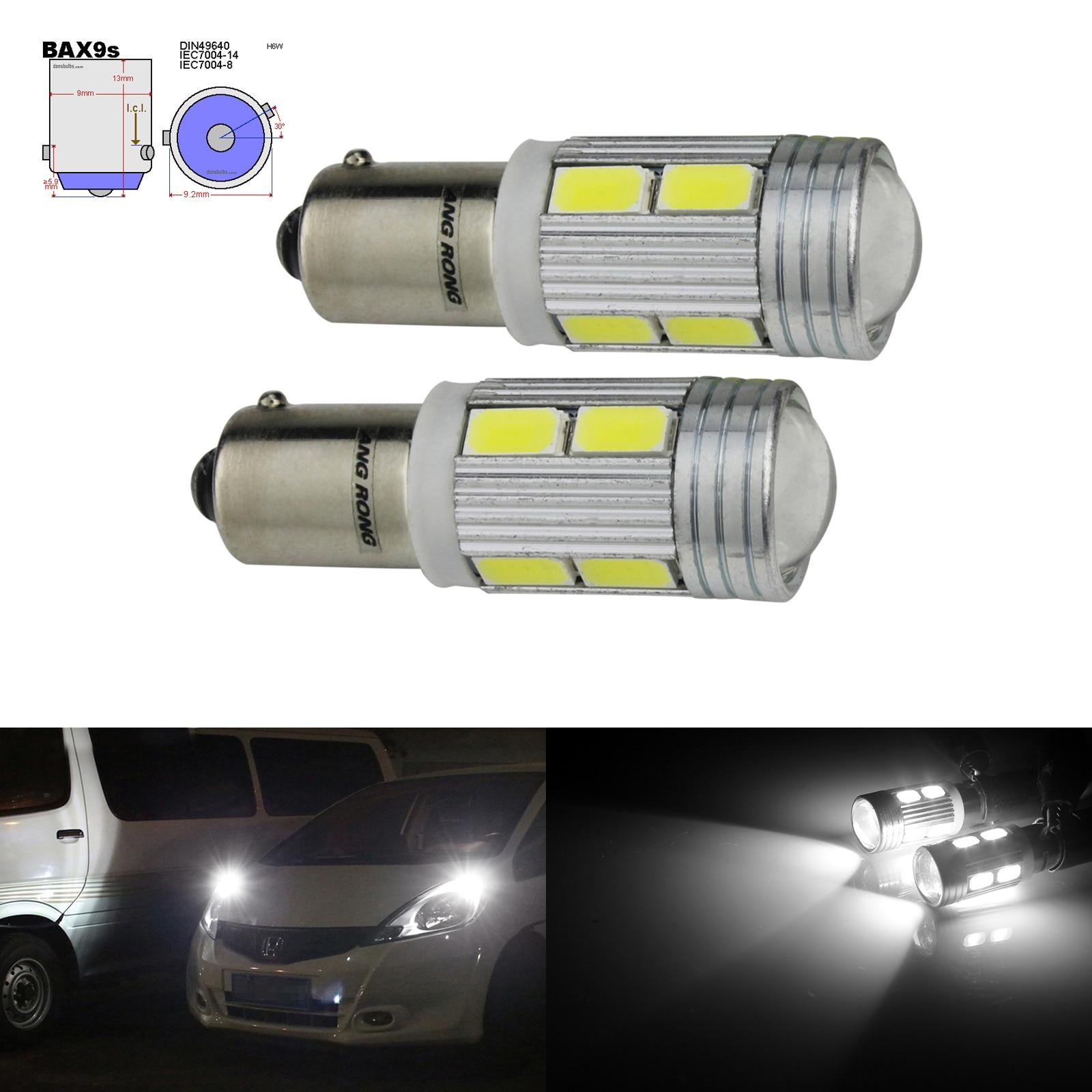 ANGRONG 2 шт. H6W BAX9S лампы 10 светодиодов 8 Вт парковка Sidelight белый для BMW 3 серии F30 F31 F34