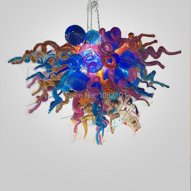 Envío Gratuito Ac Led De Excelente Calidad Murano Cristal Arte Decoración Lámpara Sombra