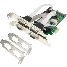 Tarjeta Serial PCI express de 4 puertos PCI-e Multi RS232 DB9 COM 5VDC 12DV SATA fuente de alimentación externa WCH384L de grado Industrial