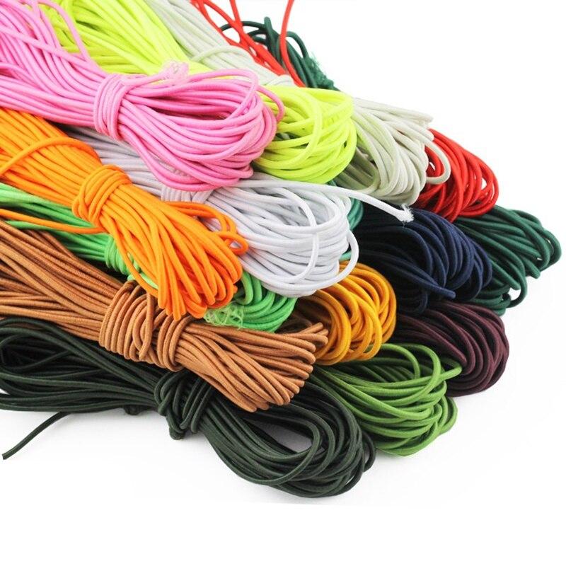 10 ярдов 2 мм цветная Высококачественная круглая эластичная веревка круглая эластичная повязка резинка для дома DIY Швейные аксессуары