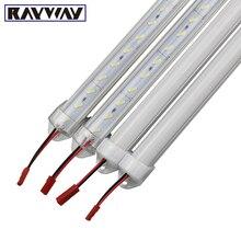Led streifen aluminium profil 8520 LED Fest Starre Bar licht 50cm DC12V 36 SMD Aluminium Led Streifen licht + U Shell