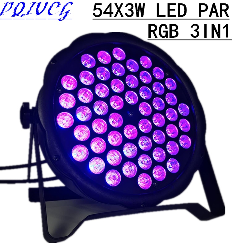 RGB 3in1 54 x3W LED PAR light DMX512 AC110-240V par led disco lights of professional DJ equipment