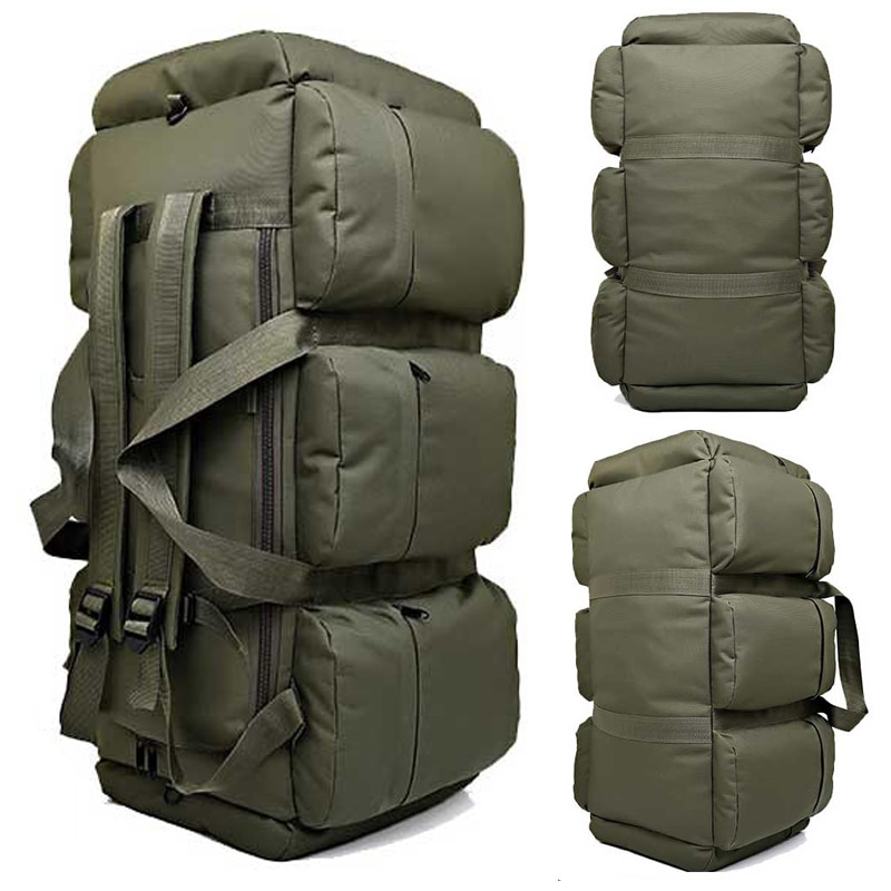 Tienda de viaje para acampar y escalar al aire libre, bolso de hombro, bolso de mano de gran capacidad oxford, impermeable, de camuflaje, bolsas de equipaje, mochila