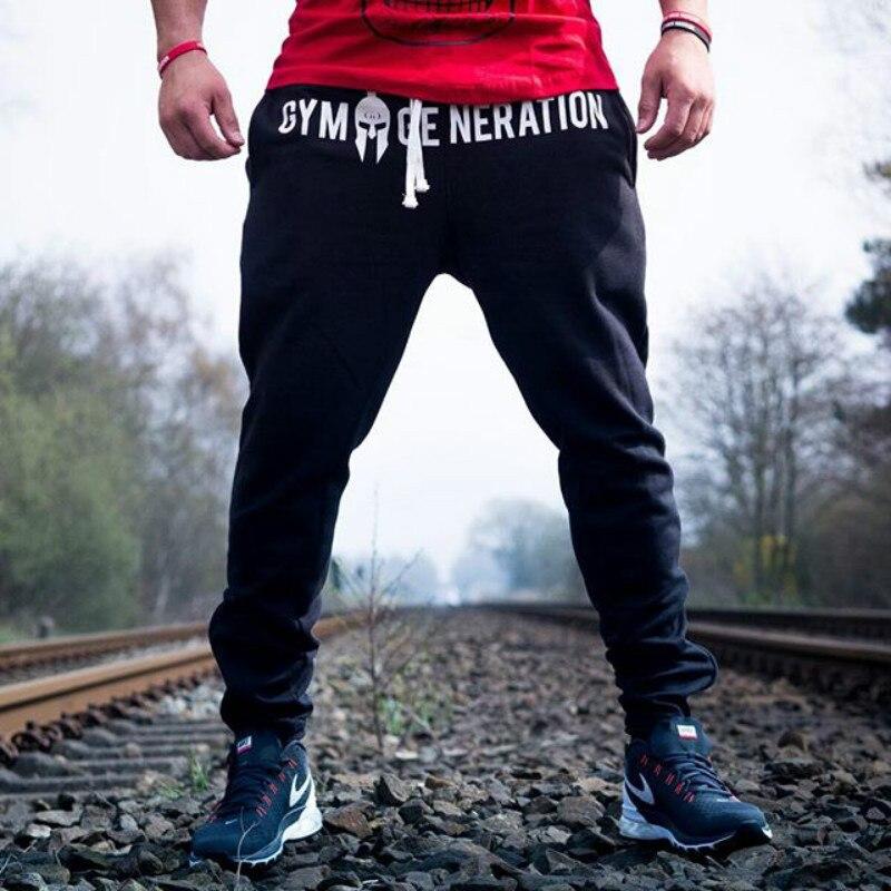 Pantalones transpirables para correr y trotar, pantalones deportivos para hombre, pantalones de gimnasio para Fitness, pantalones de chándal negros para culturismo para hombre, pantalones para correr, ropa deportiva