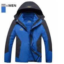 Bonne valeur hommes imperméable à leau thermique 3 couches aller veste de randonnée en plein air tactique, coupe-vent grande veste froide pour les hommes avec capuche