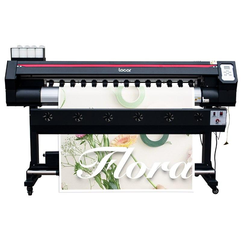 Impresora Eco solvente de gran formato 1,6 M Locor Easyjet 1440Dpi Cmyk, impresora barata de urdimbre para coche, rollo a rollo de impresora Digital