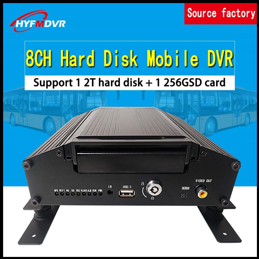 8-canal de áudio e vídeo monitoramento de gravação de cartão SD + disco rígido local CSMV6 plataforma de monitoramento DVR Móvel de trem /navio