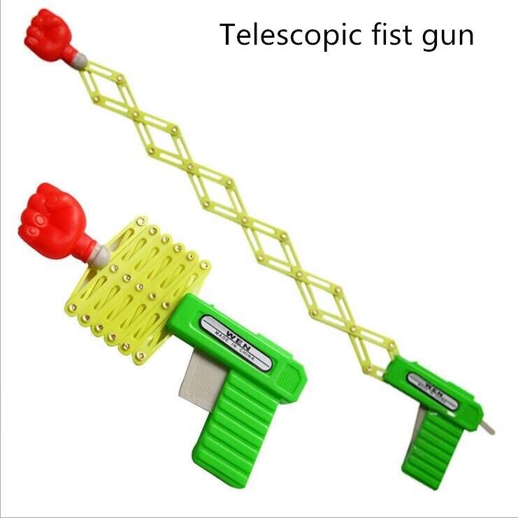 Pistola de puño telescópica elástica mágica divertida, juguetes para trucos de magia, pistola para niños DIY manual, pistola de juguete para Niños #30