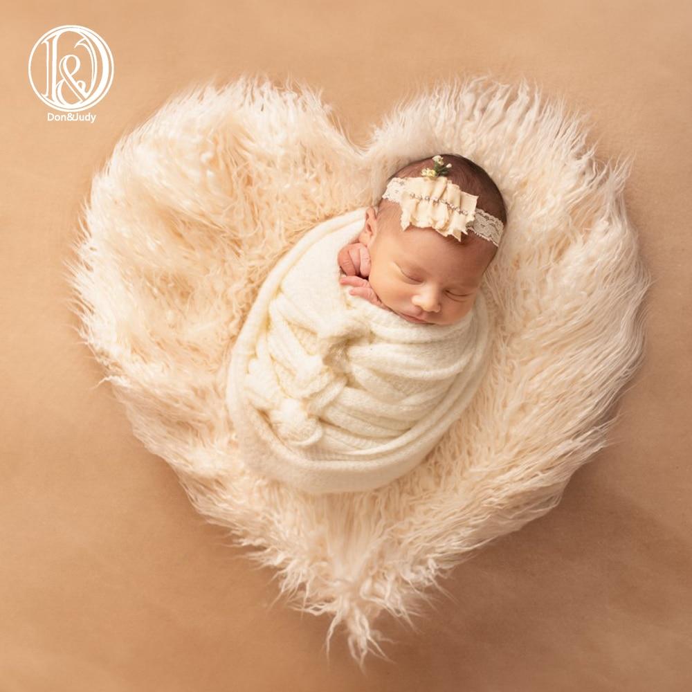 Одеяло с сердечками для новорожденных Don & Judy, мягкое одеяло из искусственного меха для фотографий, фон для фотографий, корзина, наполнитель