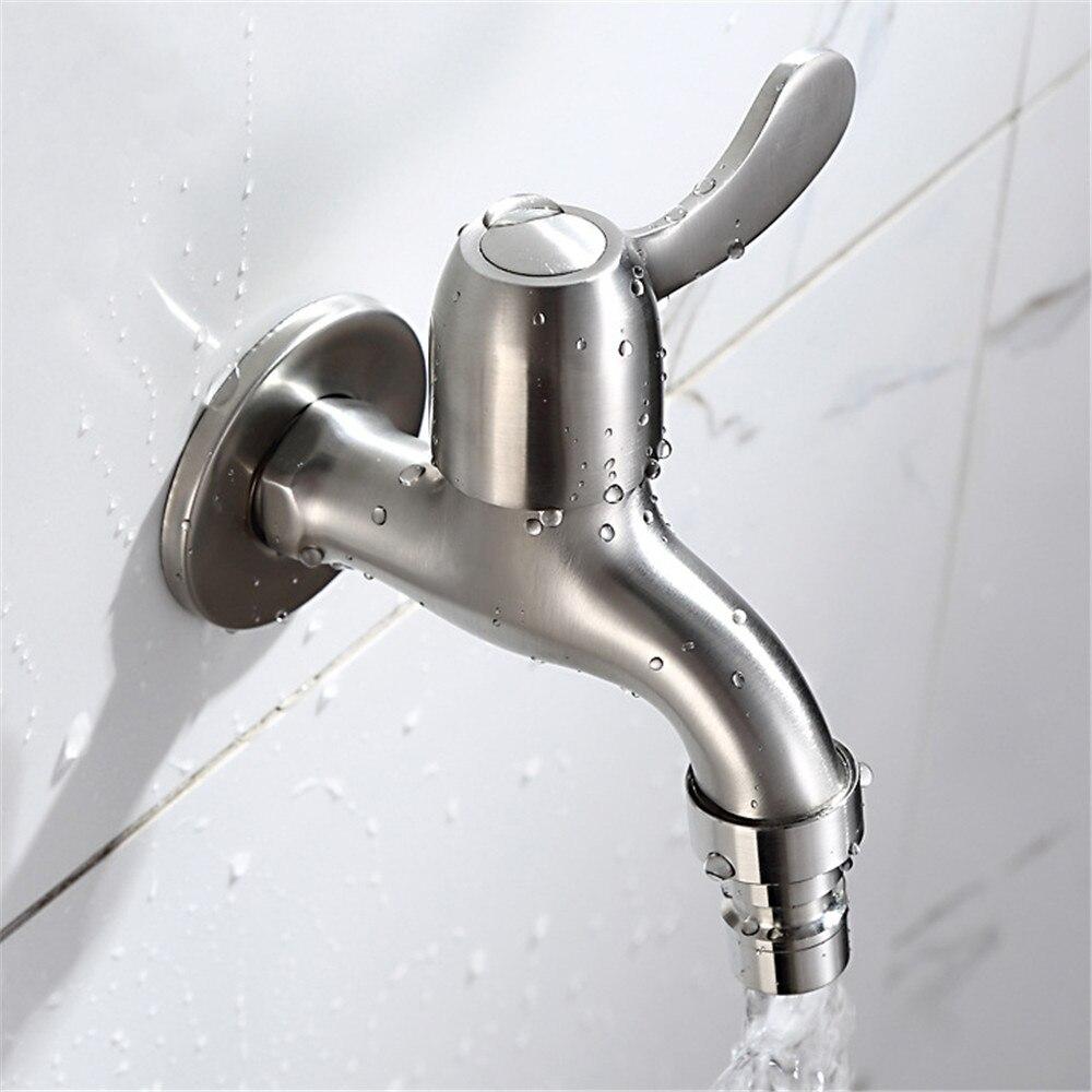 Grifo de lavadora de material de acero inoxidable 304, grifo de agua de jardín montado en la pared