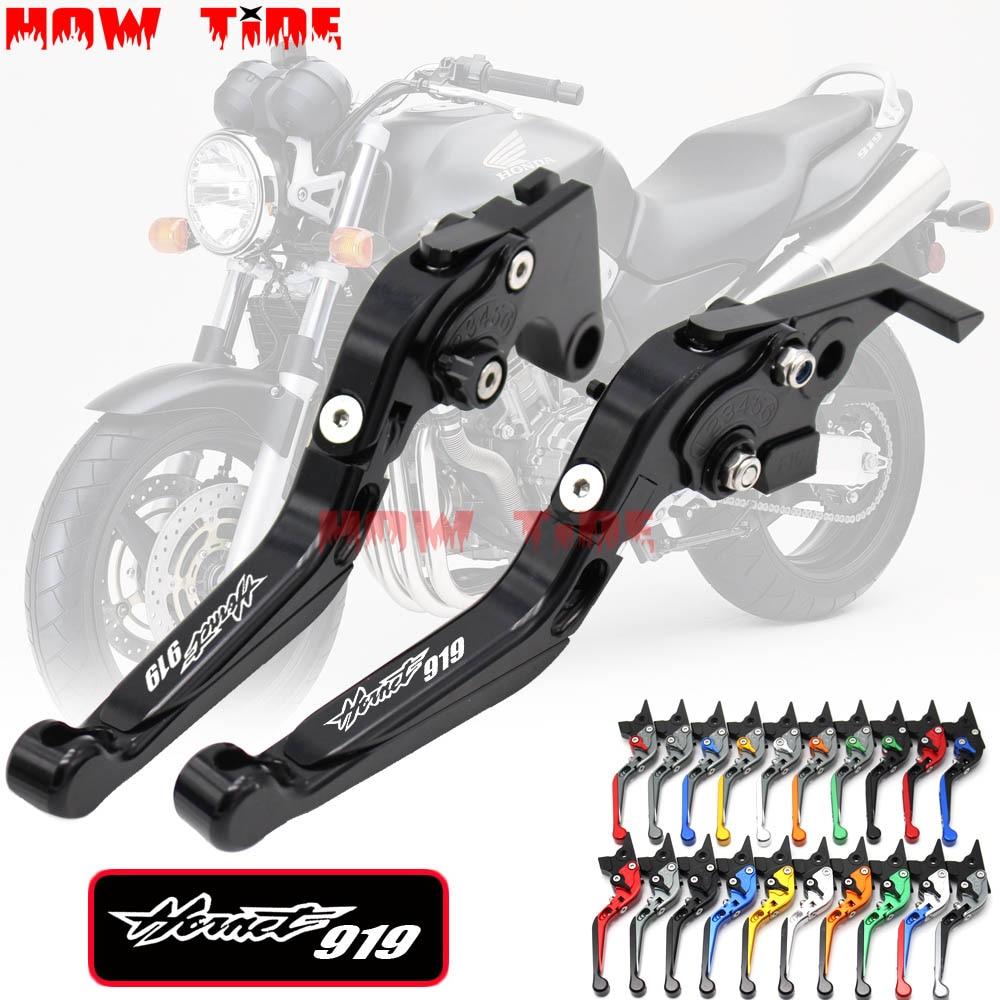Palancas de freno de embrague y extendido plegables para motocicleta, para Honda CB919 CB 919 2002-2007 CNC, palanca de 170mm, 2003 2004 2005