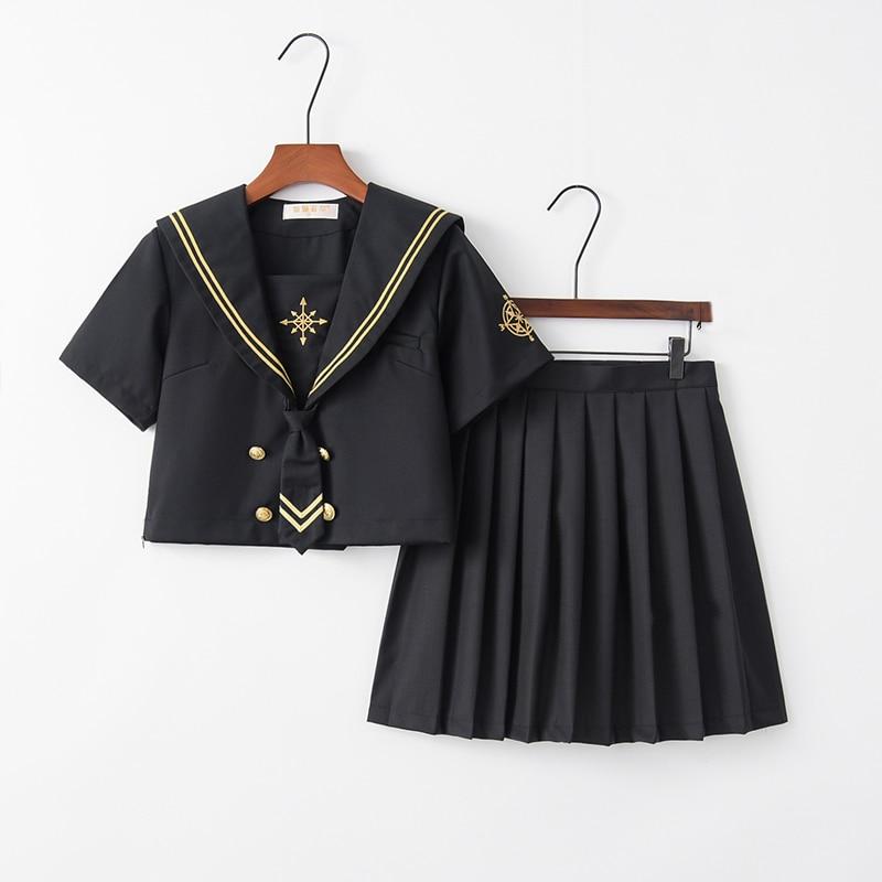 Original School Girl Uniform Short Long Sleeve Japan Student Uniforms Novelty Women Performance Sailor Suits