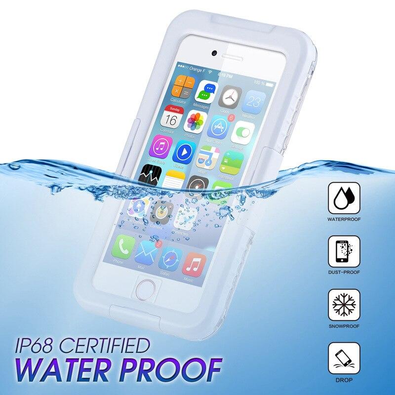 Impermeable natación buceo a prueba de nieve carcasa para iPhone 6 6S 7 8 Plus X XS Max XR 10 5S SE 4 4S agua submarina suciedad a prueba de golpes teléfono