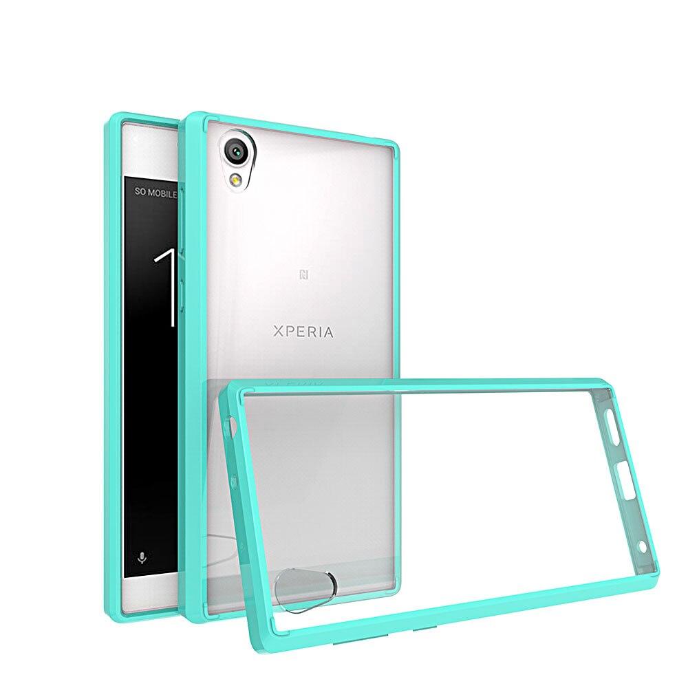 Funda transparente fina blanda de silicona con marco trasero rígido funda de PC para teléfono para Sony Xperia L1 para Sony Xperia L1 G3311 G3312 G3313