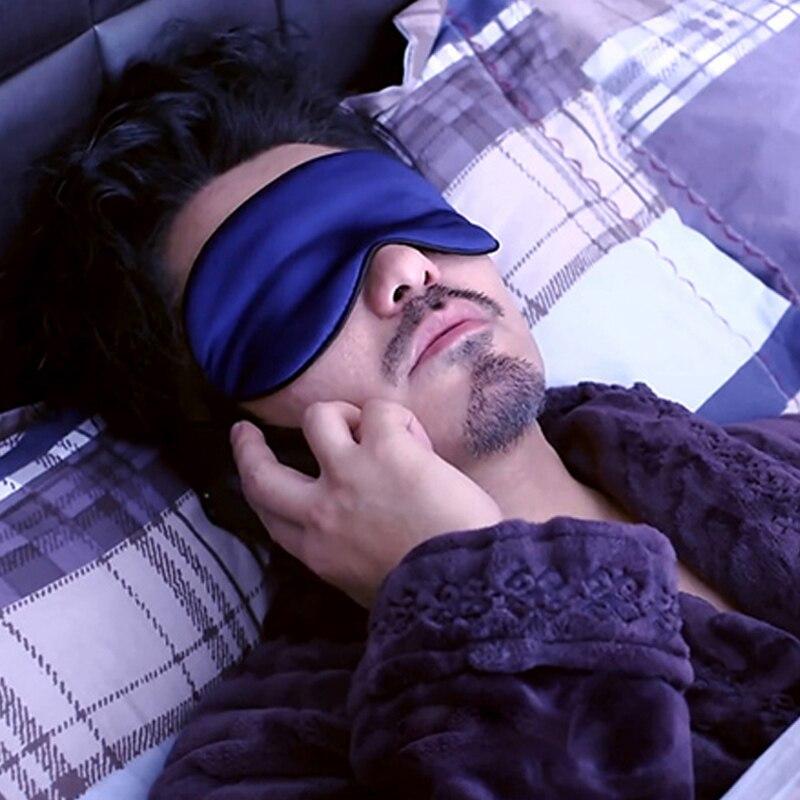 Men's sleep blackout goggles relieve fatigue silk mask with earplugs eye shade